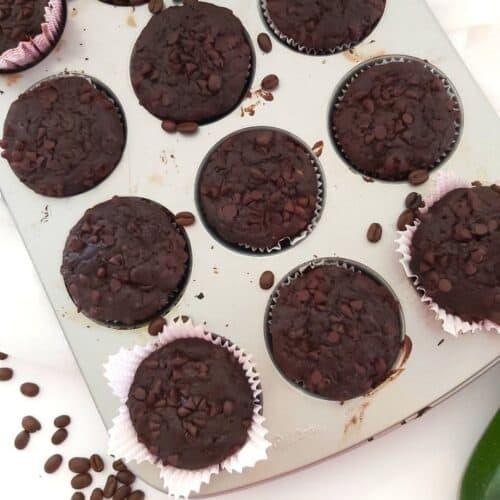 Double Chocolate Espresso Zucchini Muffins