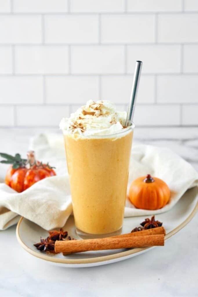 Vegan Pumpkin Spice Frappucino (Starbucks Copycat) by Wow, It's Veggie?!