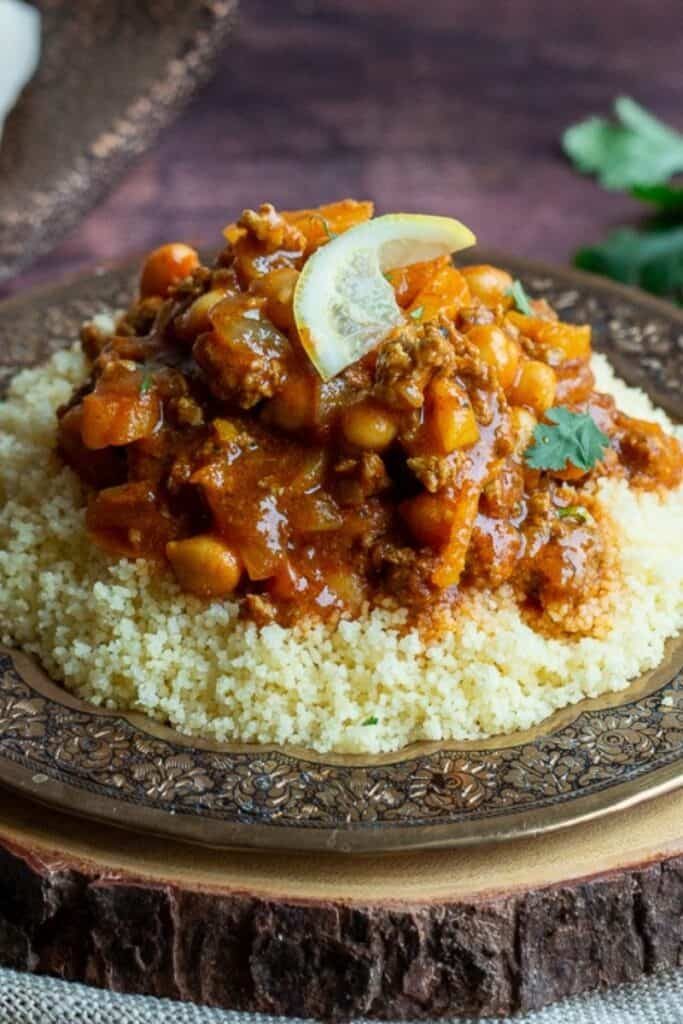 Easy Moroccan Ground Lamb Stew by Healthy World Cuisine