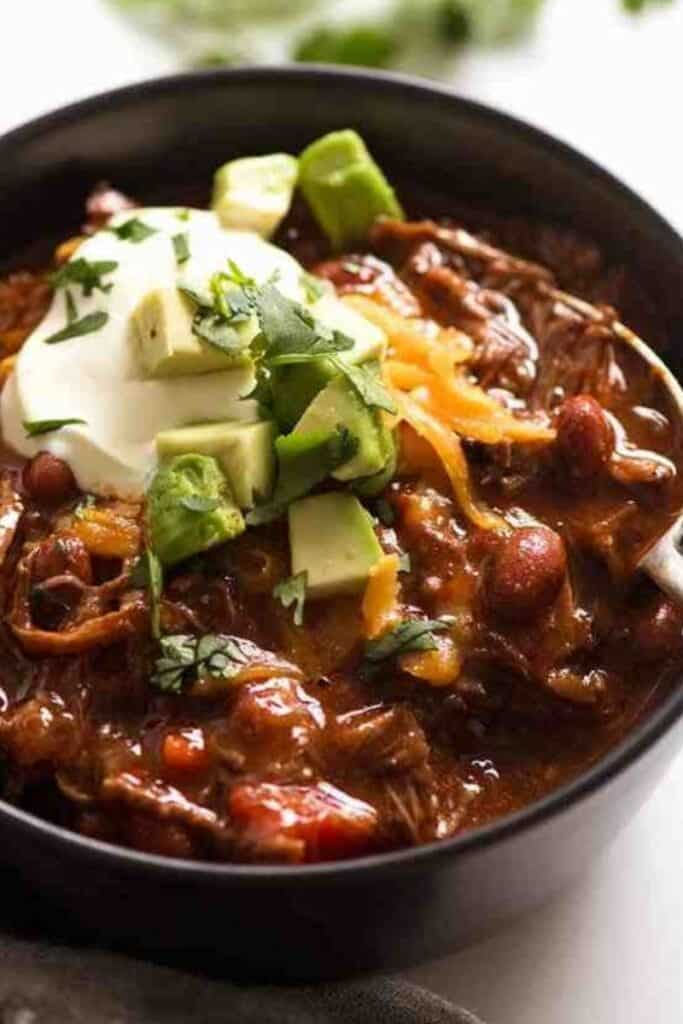 Slow Cooker Shredded Beef Chili by RecipeTin Eats