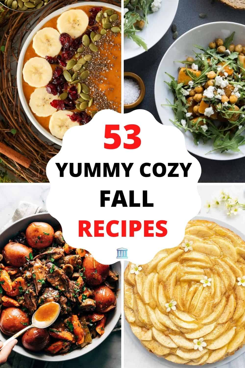 Pumpkin Smoothie Bowl by Fresh Coast Eats; Roasted Butternut Squash Salad with Feta by Gathering Dreams; Instant Pot Pot Roast by Pinch of Yum; Easy & Healthy Apple Cake Recipe by The Clever Meal