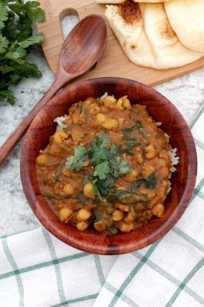 CHICKPEA AND TOMATO CURRY (INSTANT POT)