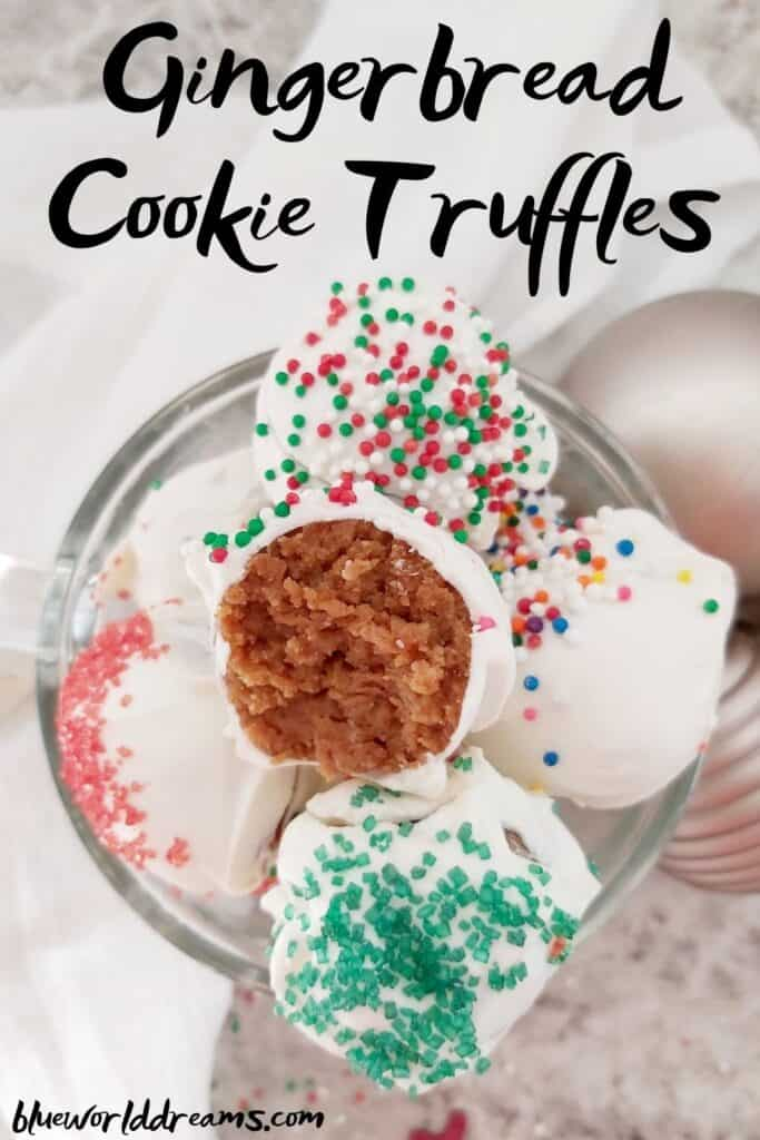 Gingerbread cookie truffles in display cup