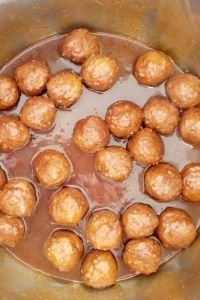 Cooked Gochujang meatballs