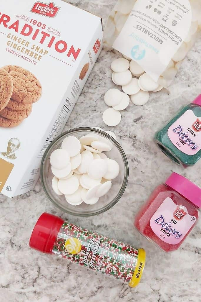 Gingerbread cookie truffle ingredients
