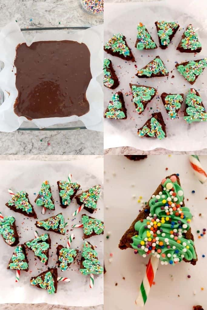 BROWNIE CHRISTMAS TREES INSTRUCTIONS