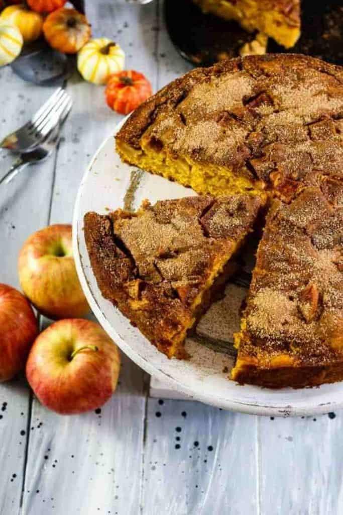 CINNAMON APPLE PUMPKIN CAKE by Marathons & Motivation