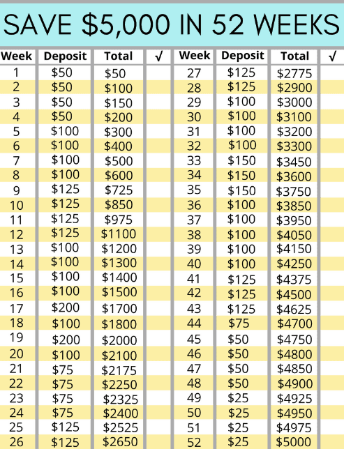 MONEY SAVING CHALLENGES - SAVE $1378 TO $5000 OR TRY THE FREESTYLE VERSION