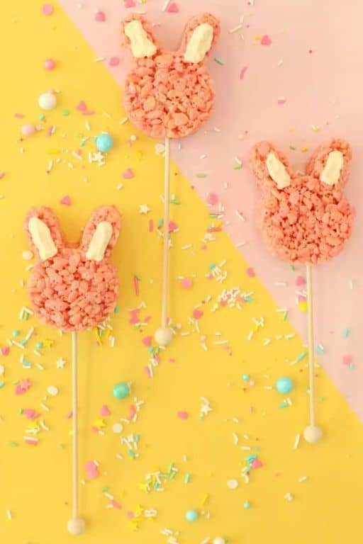 Pink Easter Rice Krispies Treats by Lovely Indeed