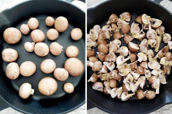 vegan roasted garlic mushrooms