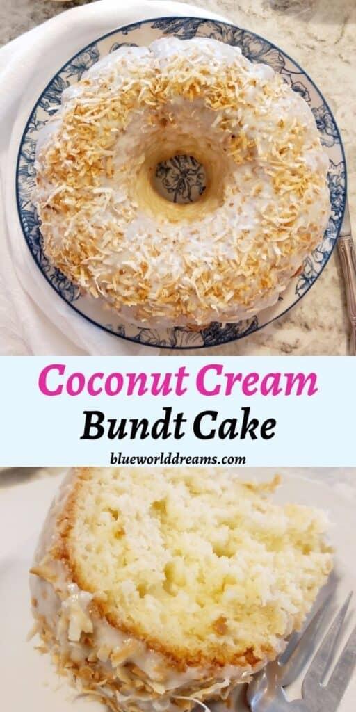 coconut cream bundt cake pin