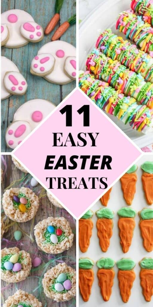 EASTER BUNNY BUTTS, MARSHMALLOW STICKS, EASTER NESTS, CARROT SUGAR COOKIES