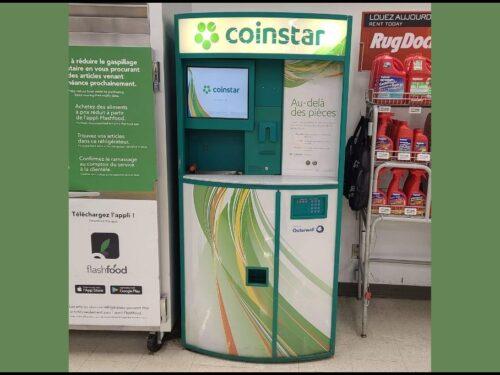Coinstar gift card exchange kiosk