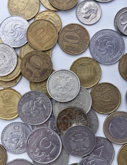 exchange coins for cash