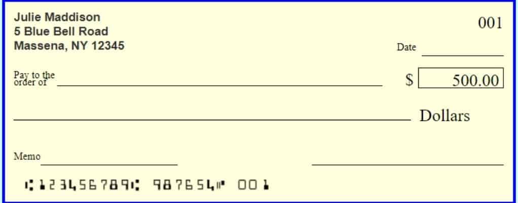 Can I use a check with an old address?