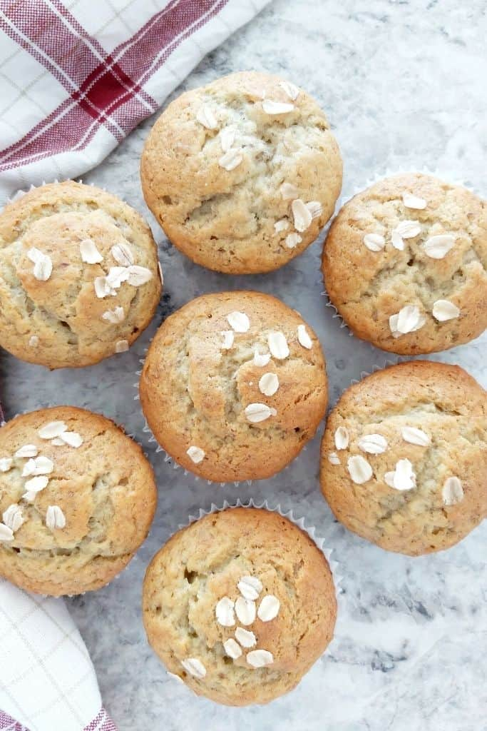 Easy Egg and Dairy Free Banana Muffins