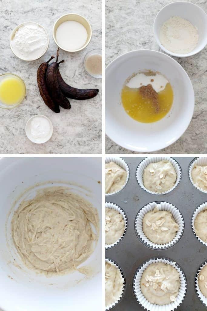 banana eggless muffins instructions