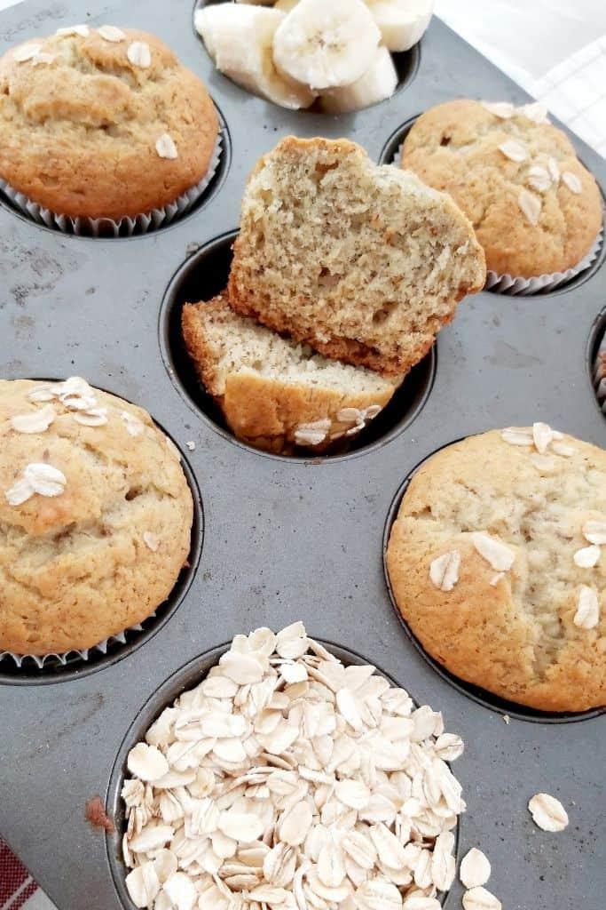egg and dairy-free banana muffins