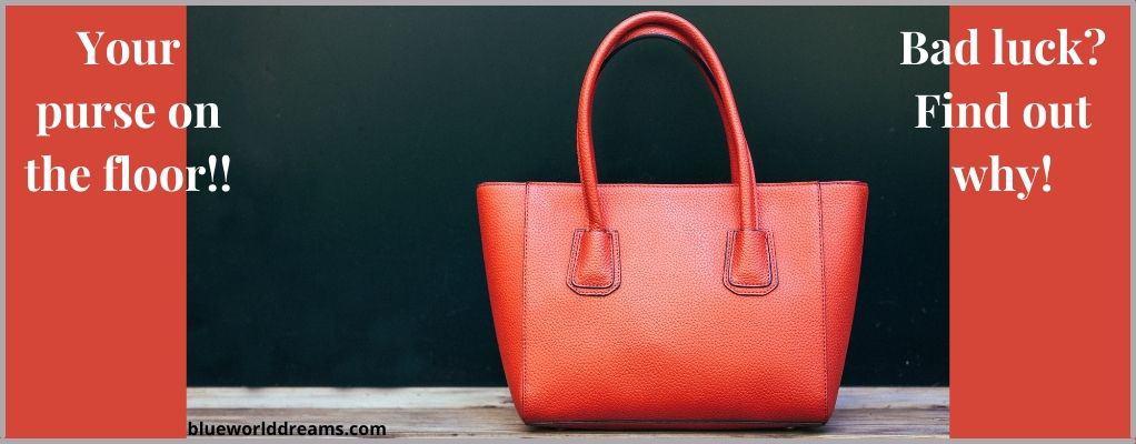 purse on the floor