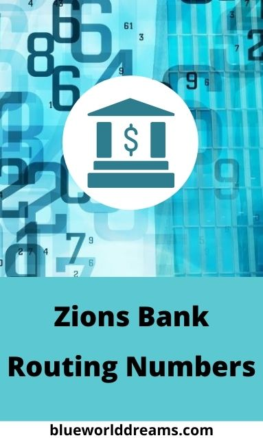 Zions Bank Routing Numbers Pinterest Pin